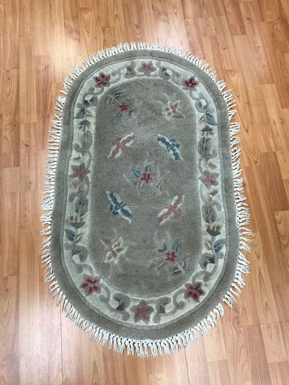 "2' x 3'6"" Chinese Art Deco Oriental Rug - Tufted - Hand Made - 100% Wool"