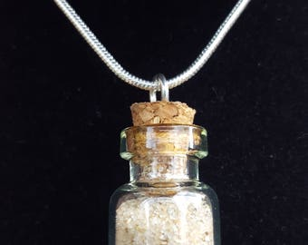 Highlands of Scotland Beach sand in a bottle pendant necklace