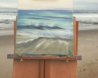 Beach Painting, Ocean Waves, Coastal Landscape, Original Ocean Painting, Seascape, Ocean Art, North Carolina coast, Nautical Wall Decor, Sea