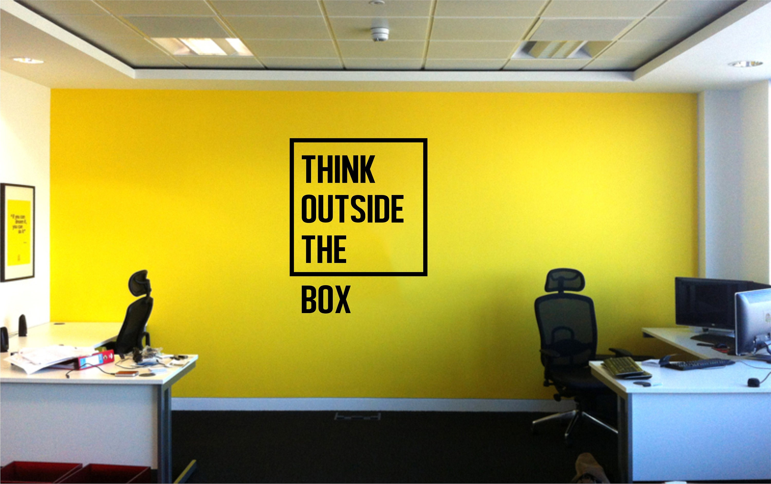 Think Outside the Box Inspirational Motivational Quote Wall Decal ...
