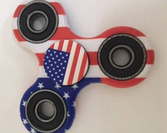 Fidget Spinner - Finger Spinner - Stress Relief - American Flag Fidget Spinner - USA Fidget Spinner