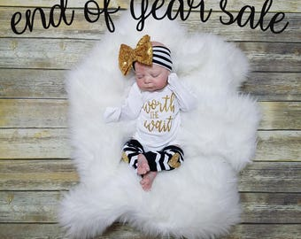 Baby Girl Going Home Outfit, Baby Girl Outfit, Coming Home Outfit, Newborn Girl Outfit, Newborn Girl Going Home, Baby Girl Gift, Baby Shower