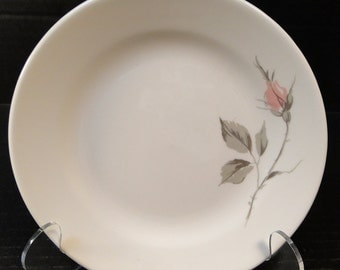 "Knowles Dawn Rose Designed by Kalla Bread Plate 6 1/2"" EXCELLENT!"