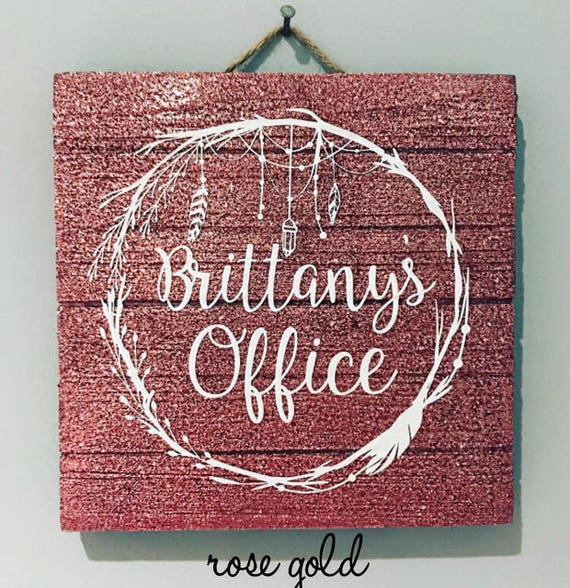 Glitter Wooden Sign - Office/Bedroom/Teachers Room/Nursery