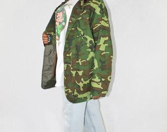 Vintage Camo Jacket Camouflage Jacket Army Jacket Military Jacket Vintage Jacket Cargo Jacket Grunge Jacket Combat Jacket