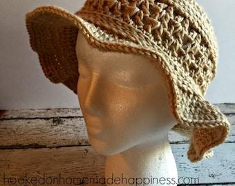 Floppy Hat Crochet PATTERN - Summer Hat - Crochet Pattern - Easy Crochet Pattern - Beginner Crochet Pattern - Brimmed Hat Crochet Pattern