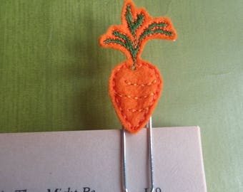 Felt Planner Clip - Planner Accessory - Stationery - Cute Paper Clip - Bookmark - Planner Clip - Carrot Normal Easter -  Book - Paper Clip -