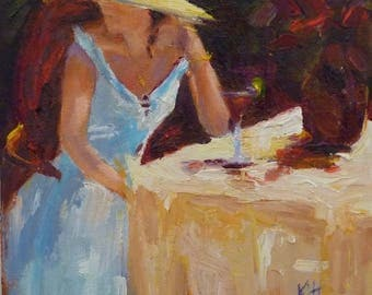 The Cosmopolitan  10x8 oil painting