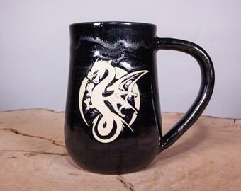 Game of Thrones Dragon handmade pottery mug