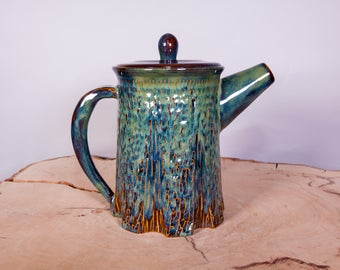 Tree Teapot, Handmade Pottery Teapot 36 ounces