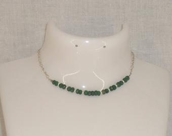 Emerald precious stone Silver 925 bracelet