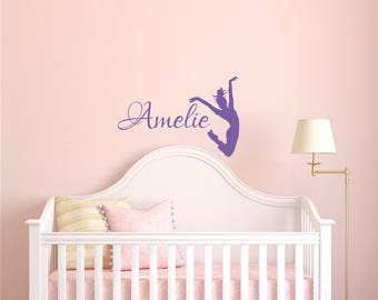 "Custom Name Wall Decal ""AMELIE"" 7.4"" tall x 11"" wide"