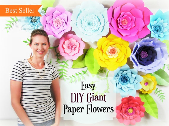 Giant paper flower tutorial large paper flowers wedding backdrop il570xn mightylinksfo