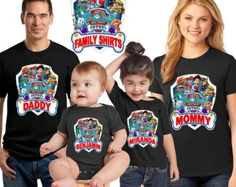 Paw Patrol Birthday Shirt - birthday boy s Shirt/chase paw patrol shirt/family matching  shirts/paw patrol birthday