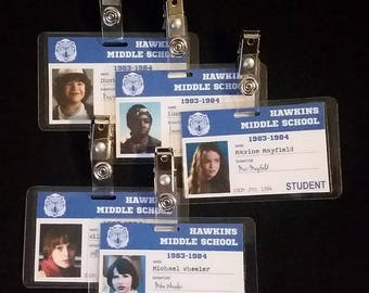 Hawkins Middle School Student ID Cards Inspired by Stranger Things