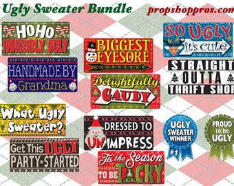 Ugly Sweater Photo Booth Props | Christmas Props | Ugly Sweater Props | Ugly Sweater Photo Booth Props