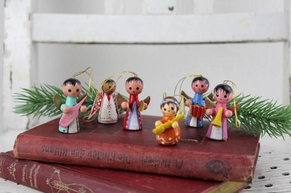 Erzgebirge Vintage wooden figures Christmas decoration