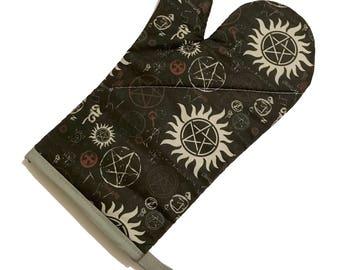 Supernatural Symbols Oven Mitt
