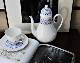 Vintage Mid Century Modern Coffee Pot Rosenthal Romance Secunda Designed by Bjorn Wiinblad