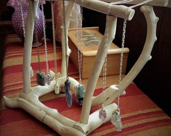 Driftwood Jewelry Display, Jewelry Stand, Necklace Display