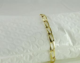 "Open Link 14K Gold Bracelet 7 3/4"""