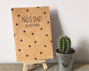 No.1 Dad in the world Card