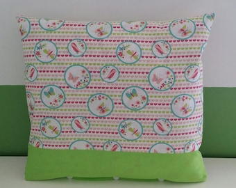 Kids personalized butterflies and flowers Cushion cover.