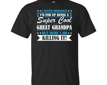 Great Grandpa, Great Grandpa Gifts, Great Grandpa Shirt, Super Cool Great Grandpa, Gifts For Great Grandpa, Great Grandpa Tshirt