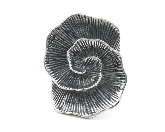 Sahara Ring, Sterling Silver Large Spiral Ring, Flower Ring, Organic, Statement Piece, Boho, Bohemian, Gypsy, Festival Jewelry