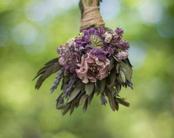 Gifts for Women, Flowers, Flower Bouquet, Floral Decor, Boho Decor, Dried Flowers, Car Charm, Cute Car Accessories,