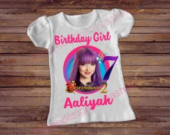 Descendants 2 Birthday Shirt, Descendants 2, Birthday Shirt,