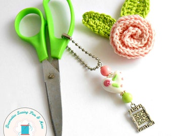 Rotary Cutter Charm - Heart Scissor Fob - Gift for Sewers - Gift for Quilters - Quilt Retreat Gift - Guild Gift - Purse Charm