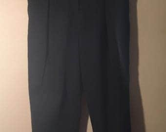Vintage 80's/90's black pleated zipper buttons pants