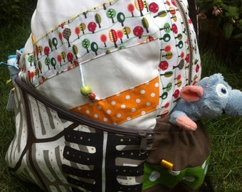 Diaper bag backpack hiking bag bag * on order - fabric choices *.