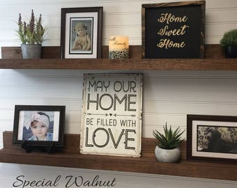 "Picture Ledge,wall shelf,floating shelf,rustic home decor,wooden shelves,book shelf,nursery shelf, 12"",18"",20"",24"",30"",36"",42"",48"",54"",60"""