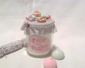 Candle gift for a pastry chef