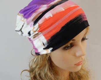 Lightweight summer beanie women Slouchy beanie Viscose beanie Women headwear Chemo hat Light weight beanie women stretch S-L