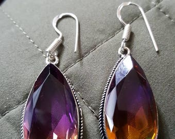 Ametrine Quartz Earrings !