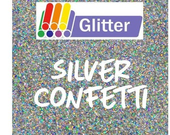 Siser Glitter Heat Transfer Vinyl - Iron On - HTV - Silver Confetti