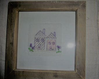 Appliqued Embroidered Picture