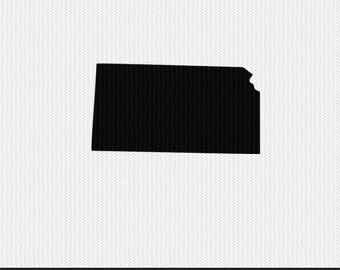 kansas svg dxf jpeg png file stencil monogram frame silhouette cameo cricut clip art commercial use