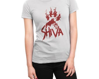 Shiva paw print women's t-shirt Walking Dead shirt television dog lover tv tee