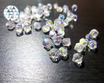 30 Earth Czech 4mm Bicone shaped beads / Bicone beads / sequins