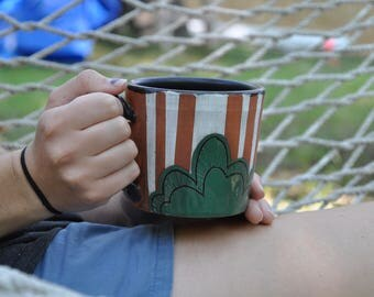 hand painted mug - 16oz