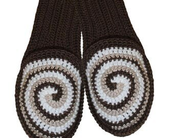 Slippers with spiral ornament, Flip flop slippers, slippers with sole