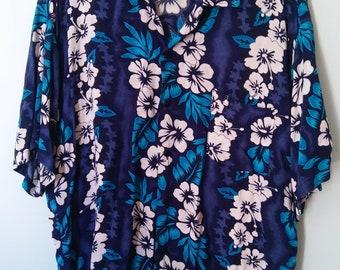 Cocowalk Vintage Hawaiian Shirt, Rayon Shirt, Hawaiian Shirt