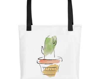 Cactus Tote bag, Botanical Tote Bag, Shopping Bag, Market Bag, Reusable Bag, Garden Gifts, Botanical Gifts for Gardeners