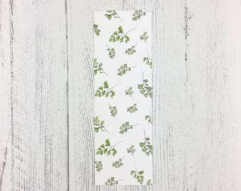 Fern Bookmark / St Patricks Day / Mothers Day Gift / Book Lover Gift / Gifts For Her / Floral Gift / Easter Gift / Flower Bookmark