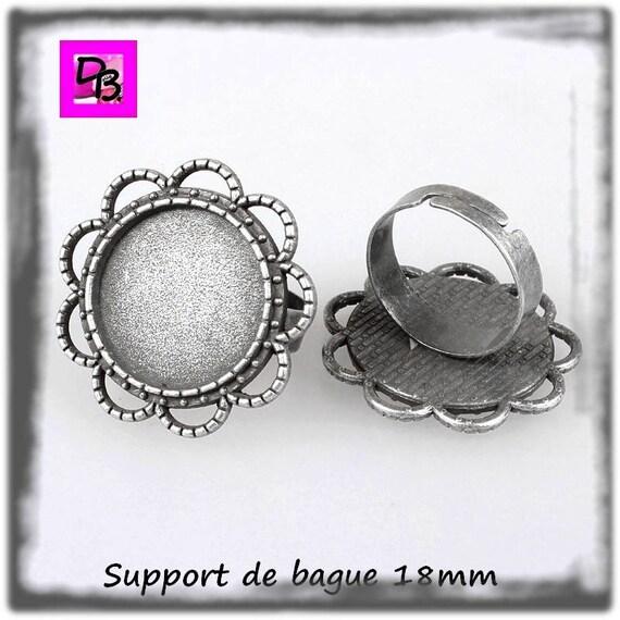 Support de bague 18 mm [Vintage flower]