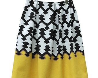 Black&white and yellow stiff skirt